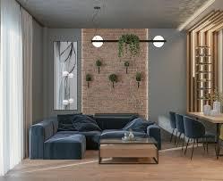 104 Interior Design Loft Artstation Living Room Kitchen David Lazishvili