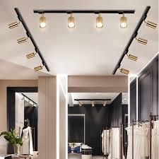 nordic licht luxus kupfer track strahler led decken le wohnzimmer hintergrund wände bar gu10 85 265v gold len