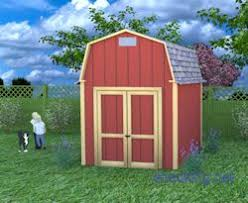 8 X 10 Gambrel Shed Plans by Barn Shed Plans Small Barn Plans Gambrel Shed Plans
