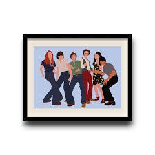 Etsy Bathroom Wall Art by That 70 U0027s Show That 70 U0027s Show Minimalist Poster That