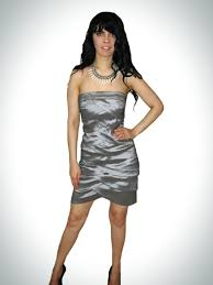 gorgeous short strapless silver cocktail prom dress affordable