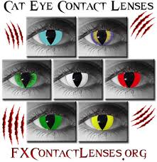 cat contacts cat eye contacts yellow green blue