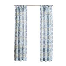 Lush Decor Belle Curtains by Lichtenberg Lapis No 918 Millennial Delia Lapis Heathered Print
