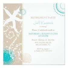 Starfish Beach Retirement Party Card