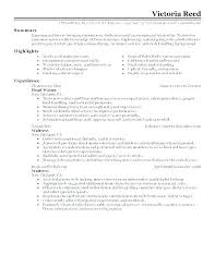 Sample Resume Waitress No Experience For A Skills Examples Example Of Waiter
