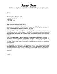 Front Desk Resume Cover Letter by Restaurant Manager Resume Cover Letter Resume For Your Job