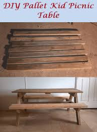 Build A Picnic Table Out Of Pallets by How To Build Kid Size Picnic Table Out Of Old Recycled Pallets