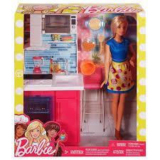 Barbie Kitchen Furniture Doll Set Multi Color Buy Barbie Kitchen