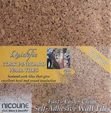 quickfix 30x30cm cork pin board tiles pk4 co uk diy tools