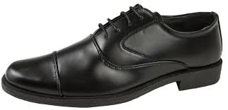 Mens Boys Faux Leather Formal Shoes Work Office School Comfort