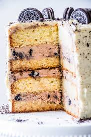 weiße schoko nougat torte mit oreo oats and crumbs