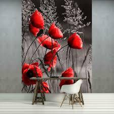 dekoration wandtattoo mohnblumen blume blumen mohn wal044