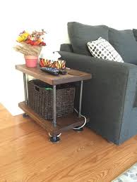 Rustic Industrial Pipe And Wood Side Table By PipeAndWoodDesigns