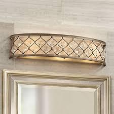 jeweled golden bronze 25 wide bathroom wall light p3318