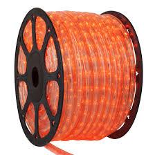LED Rope Lights 150 Orange LED Rope Light mercial Spool 120