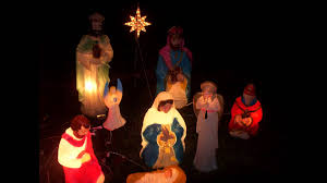 Halloween Blow Mold Display by My Christmas Blow Mold Nativity December 2014 Youtube