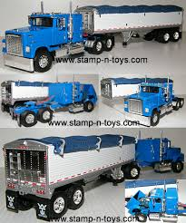 Snt Custom 0050 Blue IH 4300 Pulling A Wilson Grain Pup Trailer ... John Deere 116th Scale Big Farm Truck With Cattle Trailer 1 64 Ford Louisville L9000 Grain Scratch Custom Toy Wyatts Toys Trailers Rockin H Trucks Tonka Classic Steel Stake Wwwkotulascom Free 1950s 2 Listings 1975 Chevy C65 Tag Axle And 20 Grain Body Snt Custom 0050 Blue Ih 4300 Pulling A Wilson Pup