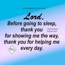 Prayer to say before sleeping Good Night