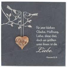 Schieferrelief »Glaube Hoffnung Liebe« 15 X 15 Cm