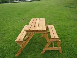 folding bench and picnic table combo shelby knox