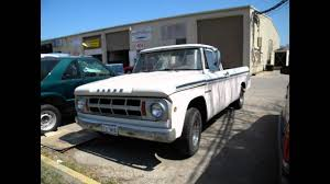 100 1968 Dodge Truck D100 Custom Sweptline YouTube