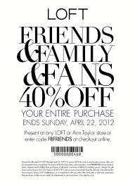 Ann Taylor Loft: 40% Off Printable Coupon Valid Through ... Ann Taylor Coupon Code September 2019 Loft Online Free Shipping Always Coupons December 2018 Turkey Trot Minneapolis Promo Target Dog Food 15 Off 75 Or More 12219 The Gateway Center Brooklyn How To Maximize Your Savings At Loft Slickdeals Womens Clothing Petites Drses Pants Shirts Cares Card Taylor Sydneys Fashion Diary Stackable Codes Www Loft Com New Deals 50 Everything Free Shipping Is Salt Water Taffy Made Adore Hair Studio