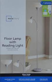 Mainstays Floor Lamp Manual by Mainstays Combo Floor Lamp In Silver With Bonus Cfl Bulb Walmart Com