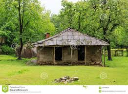 100 House In Nature Old Village Wooden S Georgia Mountains Stock
