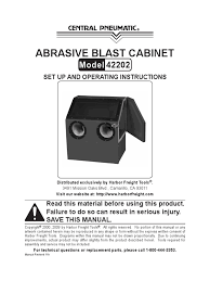 Harbor Freight Sandblast Cabinet Manual by Download Biohazard Cabinet Operation Manual Nsf 49 92 030714