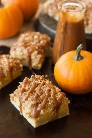 Pumpkin Swirl Cheesecake Bars by Cinnamon Caramel Pumpkin Cheesecake Shortbread Crumble Bars The
