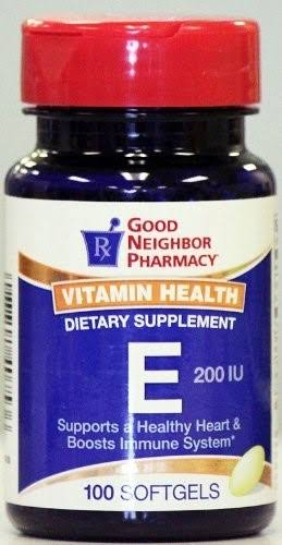 GNP Vitamin Health E 200 IU (100 Softgels)