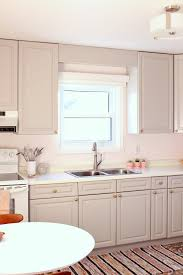 Small Kitchen Remodel Ideas On A Budget by Budget Friendly Grey Gold Pink Kitchen Makeover Dans Le Lakehouse