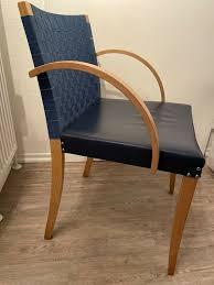 thonet 5x hochwertige stühle stuhl blau holz armlehne esszimmer