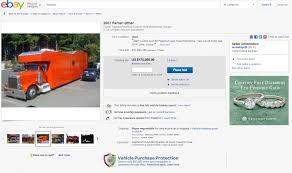 Ebay Find: Custom Ferrari Inspired Peterbilt Motorhome Austin Tx Craigslist Cars Trucks Unique Vehicle Scams Google Wallet Car Couch Ebay Parts Diy Part Fniture Seat For Sofa Craigslistebay Listings Fake Ok And Terrible 1 Camry Bench Covers Canvas Kmart Seats In Ebay Motors Introduces Onestop Shop For Auto Needs Looking A Coe Ford 1948 Coke Truck This One Is On Fast Antique Truck 1968 Amc Amx Drag Racer Put Up Sale Ebay Could Be Yours Bigger Is Better Mens Long Sleeve Tshirt Cool Jeep Set Of 10 2018 Hot Wheels 50th Anniversary Throwb In Toys 4wd Rc Monster Offroad 24g Remote