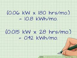 how to calculate kilowatts used by light bulbs 7 steps
