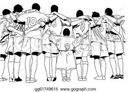 Soccer Team Clipart Black And White ClipartXtras
