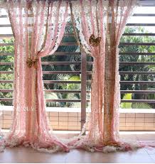 Pink Ruffled Window Curtains by Pink Lace Ruffles Gold Sparkle Sequin Backdrop Props Wedding