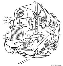 Printable Disney Cars Coloring Pages Mack