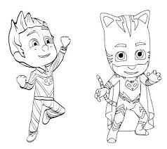 Pj Mask Coloring Pages Masks Connect The Dots Page Free Online Gecko Copy From