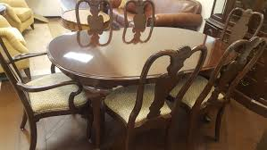 Ethan Allen Dining Room Table Leaf by Ethan Allen Dining Table Set U2013 Design Consignment