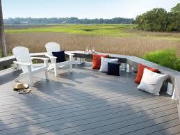 Runnen Floor Decking Outdoor Brown Stained by Plastic Vs Composite Decking Hgtv