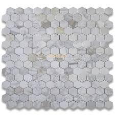 italian calacatta gold marble 3 inch hexagon mosaic tile tumbled
