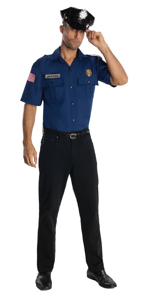Rubie's Costumes Men's Police Officer Costume, Blue, Size Standard