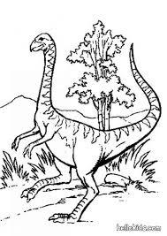 Dinosaur And Palme Strange Dinosar Coloring Page
