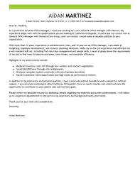 General Cover Letter for fice Manager