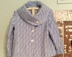 Chenille Bed Jacket by Chenille Jacket Etsy