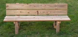 simple wooden bench treenovation