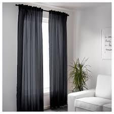 vivan curtains 1 pair black 145x250 cm ikea