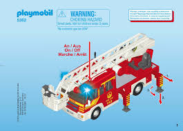 100 Playmobil Fire Truck Manual Set 5362 Rescue Truck