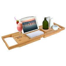 Bamboo Bathtub Caddy With Reading Rack by Bathtub Caddies Ebay